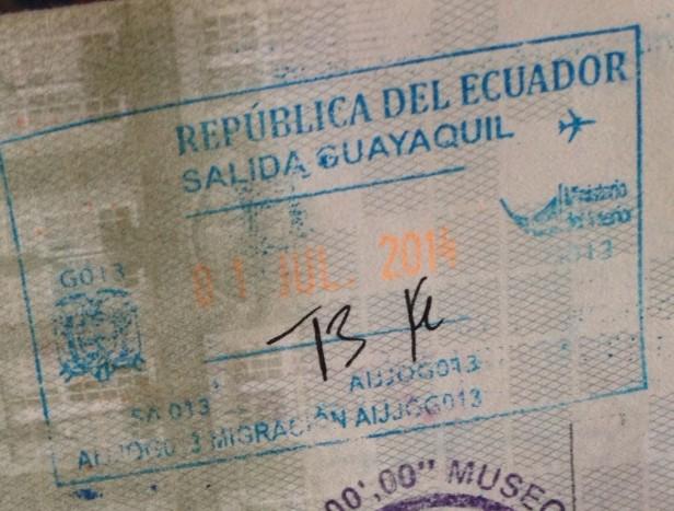 Emigración en Guayaquil, Ecuador (Cortesía: Pierre Thirion)