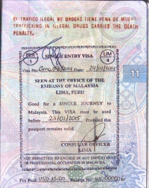 Visa de Malasia (Cortesía: Gato Cósmico)
