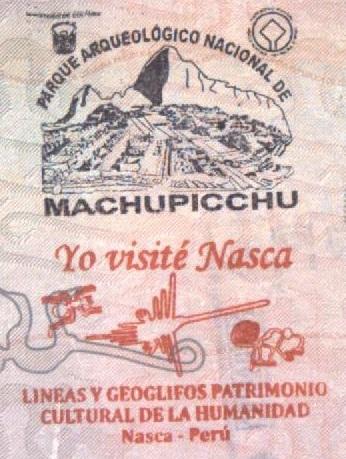 Sellos Turísticos de Machu Picchu y Nasca (Cortesía: Gato Cósmico)