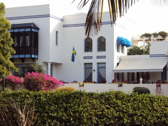 Bandera de Suecia - Mascate, Omán