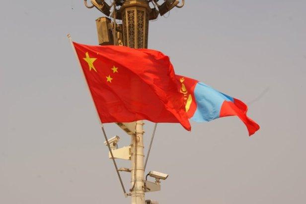 Banderas de China y Mongolia - Beijing, China