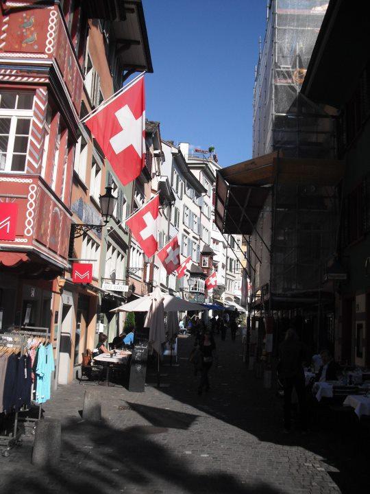 Bandera de Suiza - Zúrich, Suiza