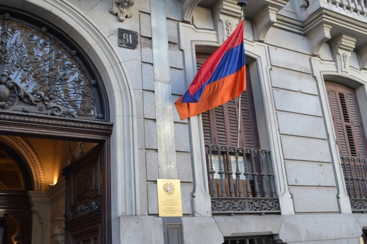 Embajada de Armenia - Madrid, España / Armenian Embassy - Madrid, Spain / Por: Blog de Banderas