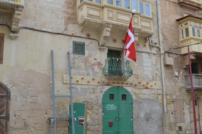 Embajada de Dinamarca - La Valletta, Malta / Embassy of Denmark - Valletta, Malta / Por: Blog de Banderas