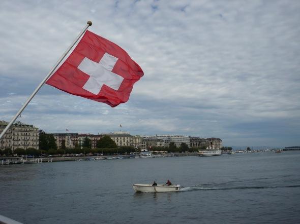 Bandera de Suiza - Ginebra, Suiza