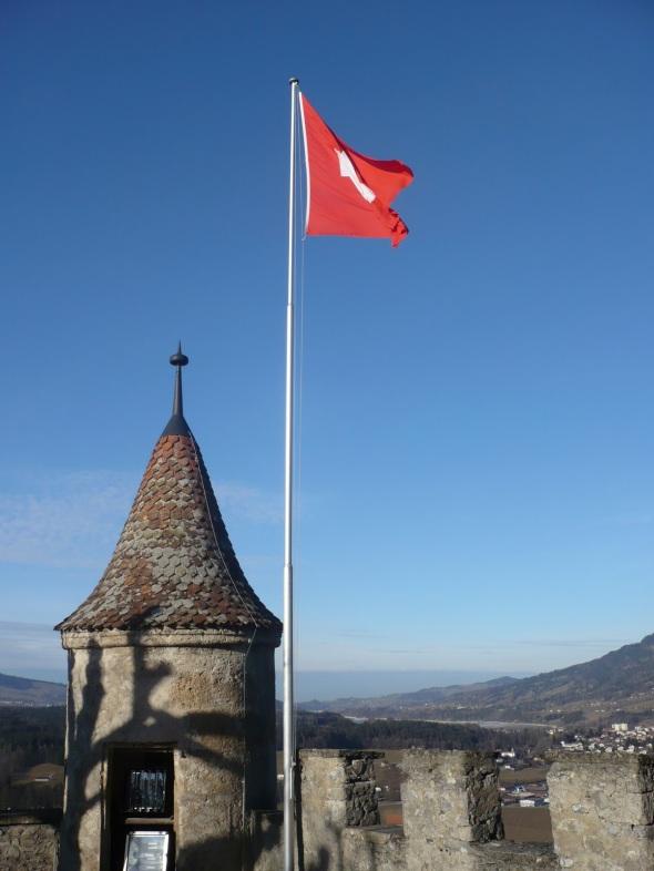 Bandera de Suiza - Gruyères, Suiza