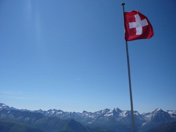 Bandera de Suiza - Goms, Suiza