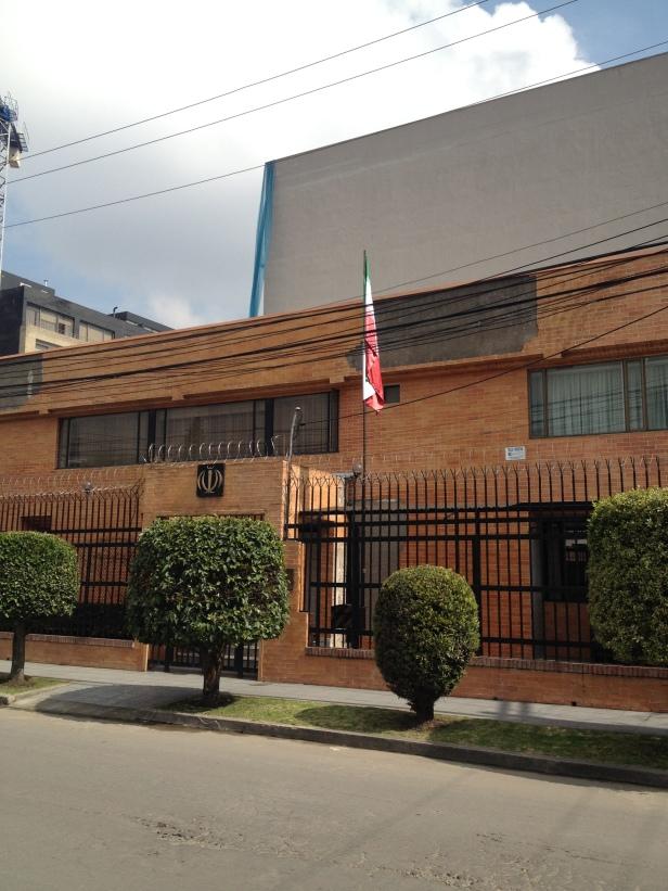 Bandera de Irán / Flag of Iran Embajada de Irán en Colombia / Embassy of Iran in Colombia Bogotá, Colombia Por: Blog de Banderas