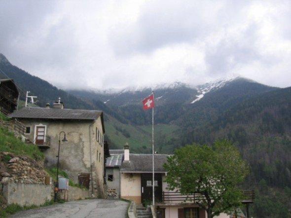 Bandera de Suiza - Orsières, Suiza