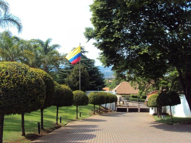Bandera de Colombia - Pretoria