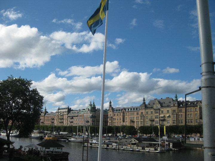 Bandera de Suecia - Estocolmo, Suecia
