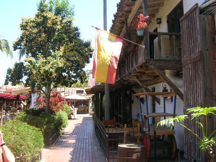 Bandera de España en San Diego, California, ESTADOS UNIDOS