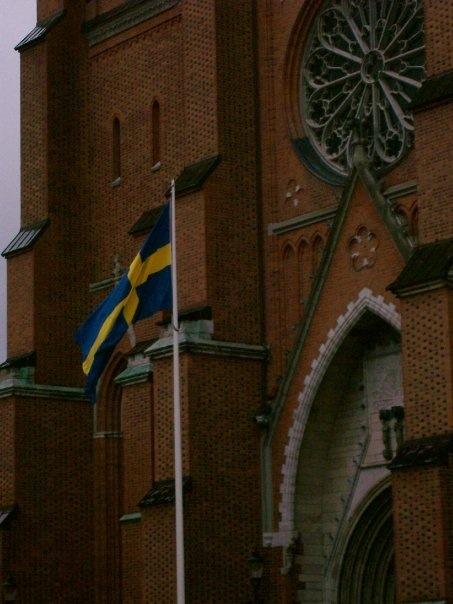 Banderas de Suecia - Uppsala, Suecia