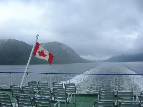 Navegando a la isla de Vancouver, CANADA
