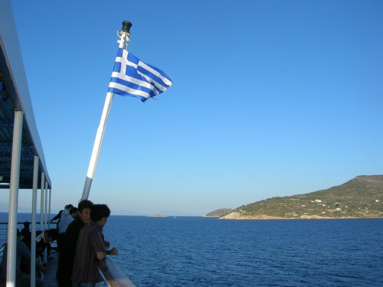 Navegando hacia la isla de Samos, GRECIA