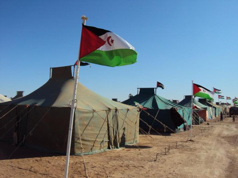 Jaimas instaladas para acoger a los representantes saharauis al congreso
