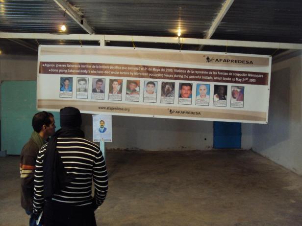 Homenaje a los mártires de la causa saharaui