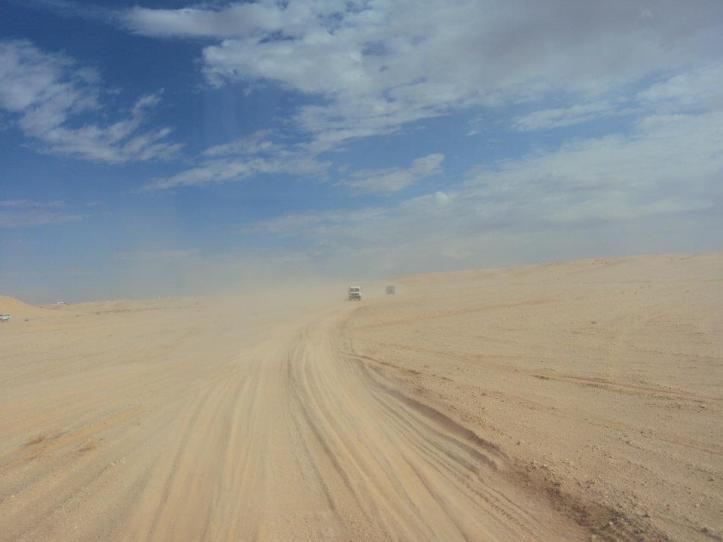 Desierto del Sahara entrando a la RASD