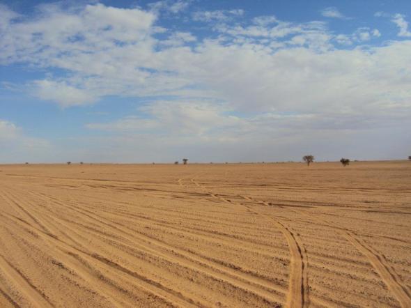 Y luego a través del Sahara