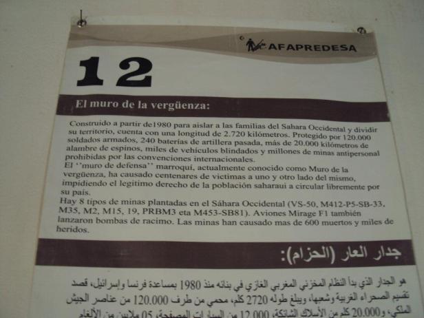 """Información sobre el """"Muro de la Vergüenza"""" construido por Marruecos en el Sahara Occidental"""