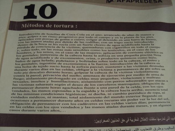 Métodos de tortura utilizados por las fuerzas de Seguridad Marroquíes contra la población saharaui en los territorios ocupados