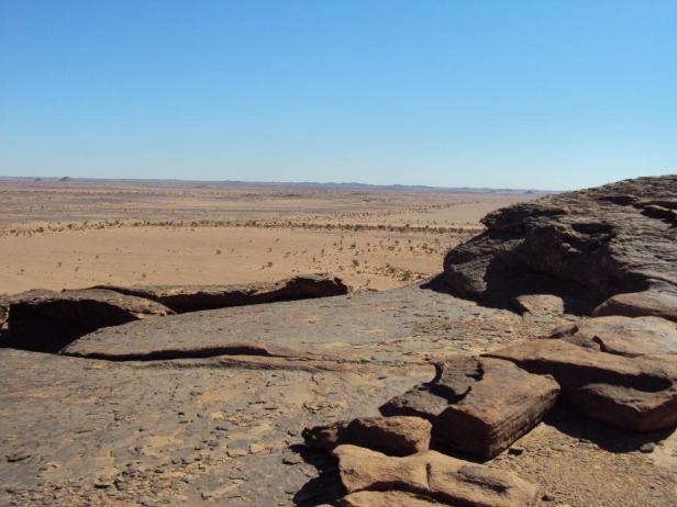 Vista del Sahara desde Erqueyez