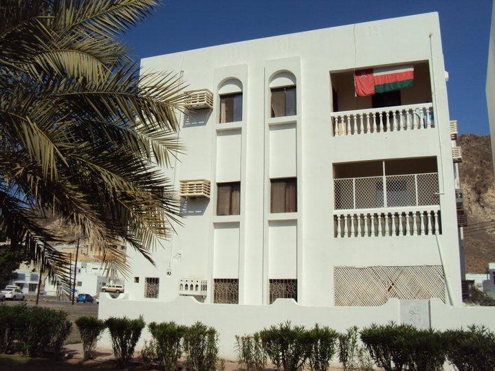Típico edificio de apartamentos en Mascate