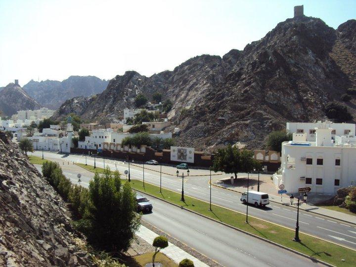 Barrio residencial en la parte antigua de Mascate