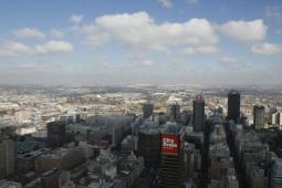 """Panorámica del Centro de Johannesburgo desde el """"Top of Africa"""""""