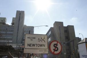 Zona de Newtown en el Centro de Johannesburgo