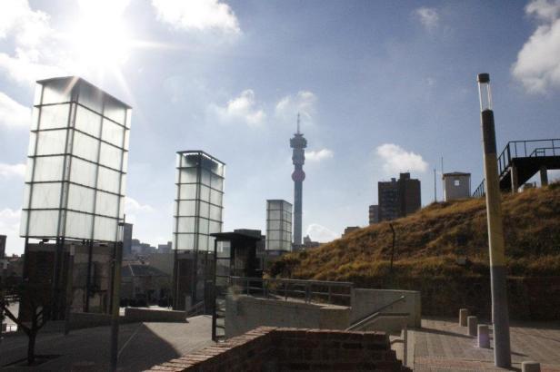 Panorámica de Johannesburgo desde la Corte Constitucional