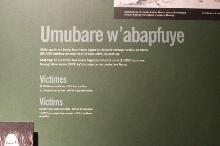 65.000 Herero fueron asesinados - 80% de la población / 10.000 Nama fueron asesinados - 50% de la población
