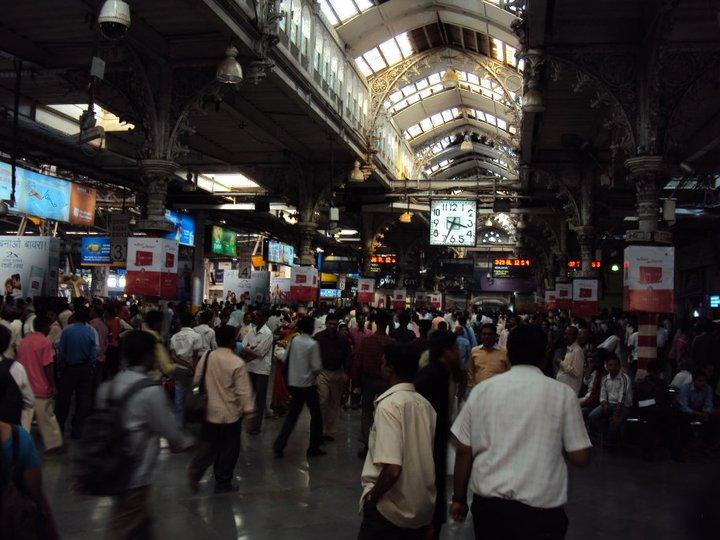 Estación del tren en Nueva Delhi