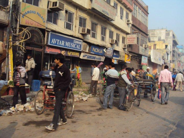 Calle en Nueva Delhi