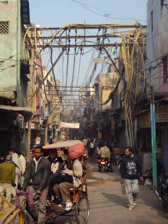 Calle en Old Delhi