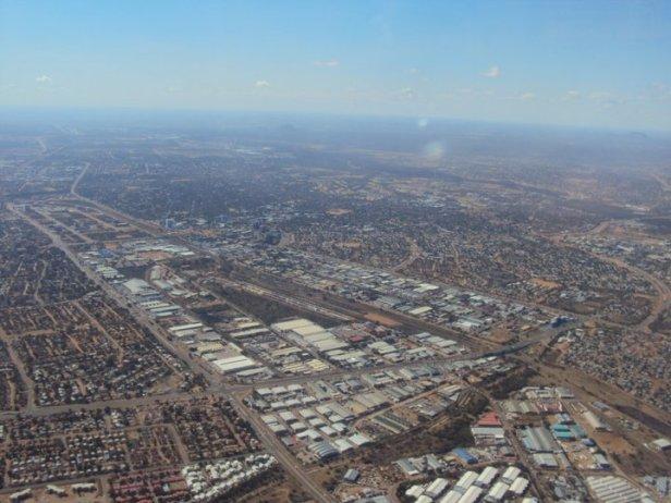 Vista aérea del centro de Gaborone