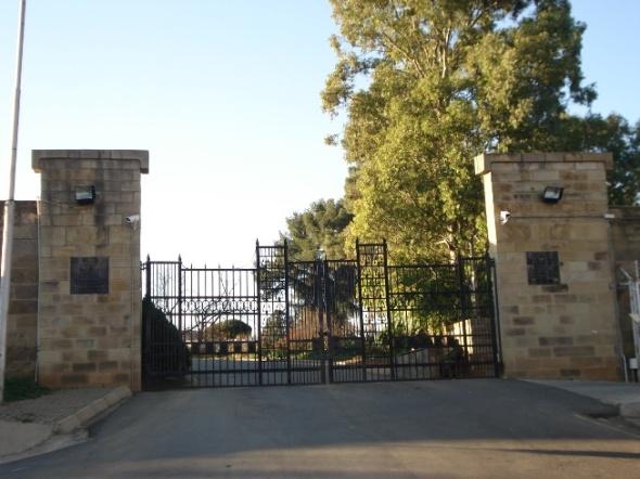 Entrada al mini Palacio del Rey Letsie III