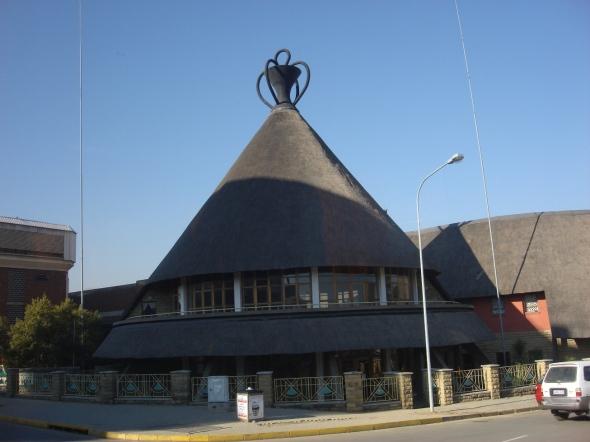 Mercado Mokorotlo en el centro de Maseru