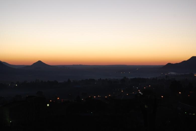 Atardecer en Maseru, Lesotho