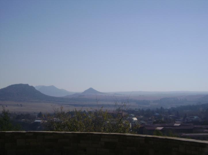 Formación característica de las Montañas Maloti