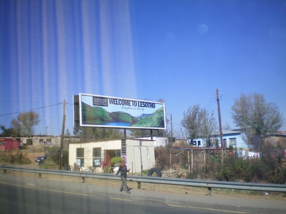 La bienvenida a Lesotho