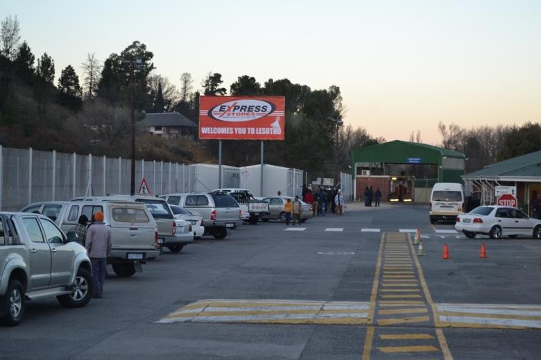 Frontera entre Sudáfrica y Lesotho del lado sudafricano