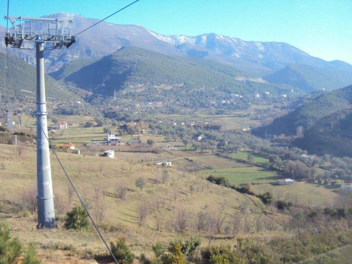 Teleférico al Parque Nacional de la Montaña Dajti.