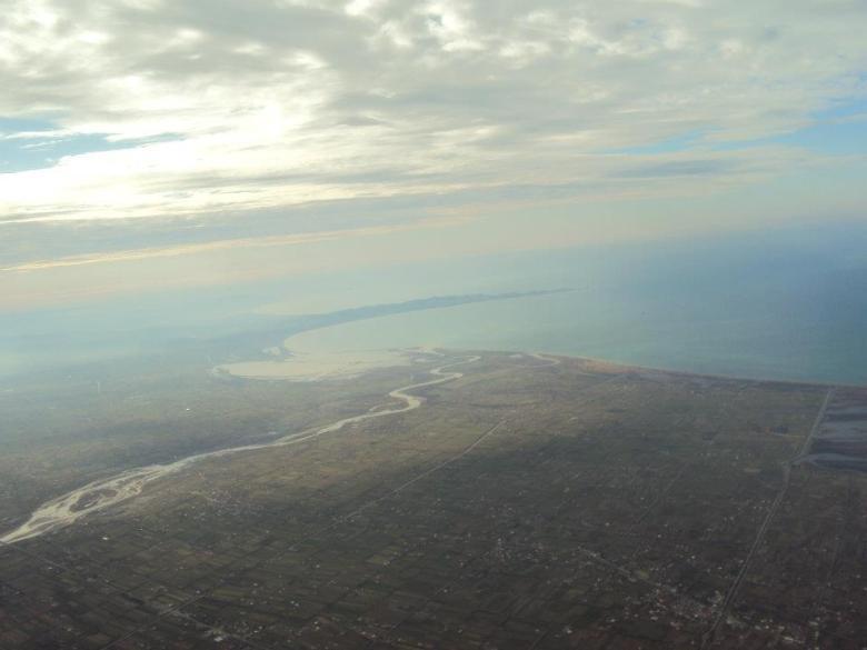Planicies albanesas justo antes de aterrizar en Tirana