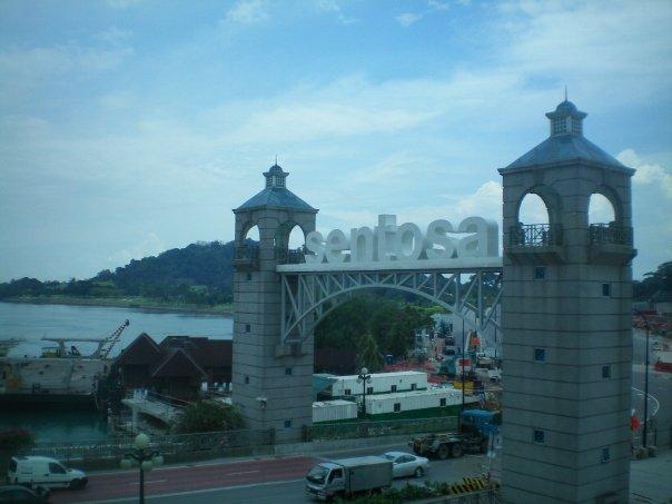Entrada a la Isla de Sentosa en Singapur