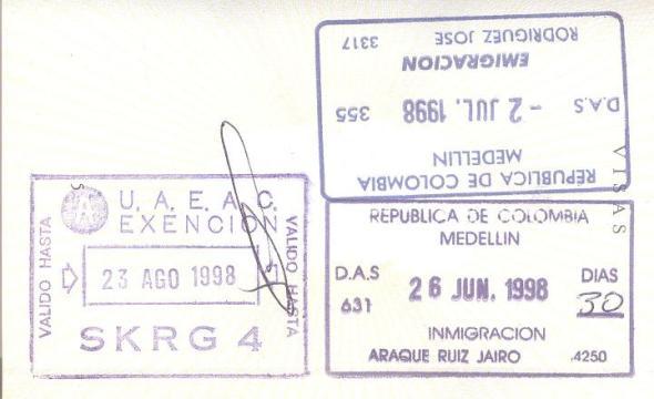 Inmigración / Emigración: Aeropuerto Internacional José María Córdova de Medellín, Colombia (Cortesía: Fernando Botello)