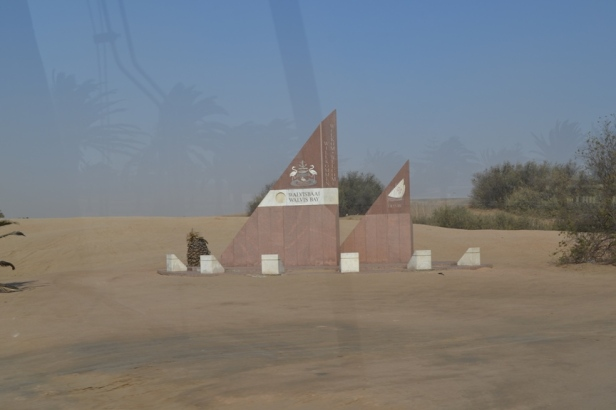De camino entre Swakopmund y Walvisbaai