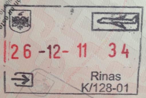Inmigración: Aeropuerto Internacional Madre Teresa de Tirana, Albania