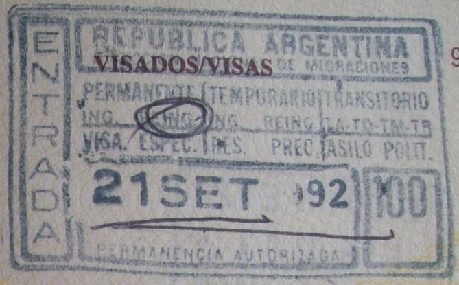 Inmigración: Aeropuerto Internacional de Ezeiza, Argentina (Cortesía: Patricio Nogueira)