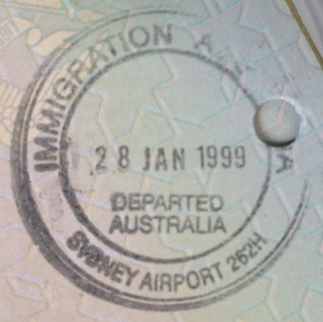 Emigración: Aeropuerto Internacional de Sydney, Australia